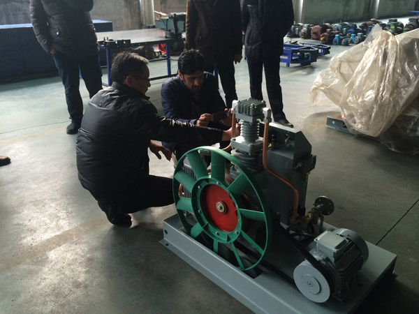 customer visit bailian compressor 4