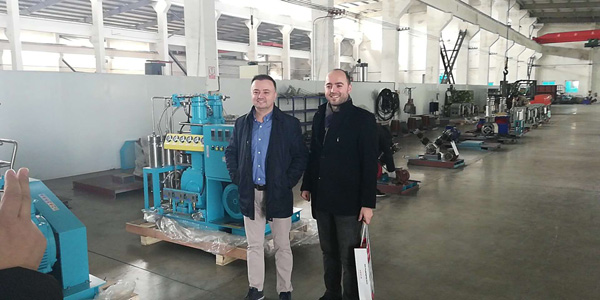 customer visit bailian compressor 1