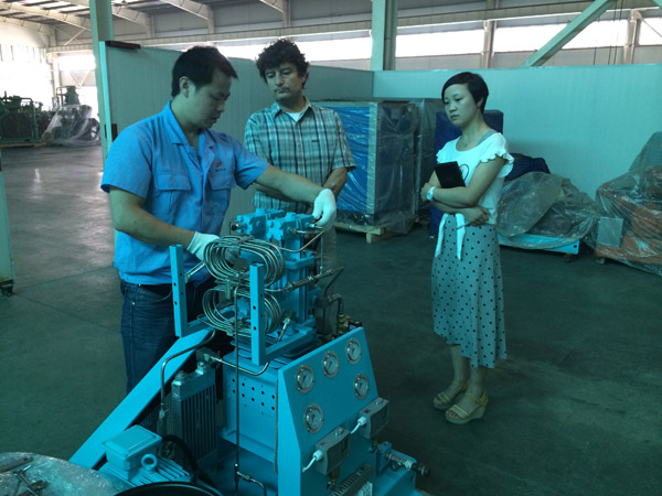 customer visit bailian compressor 2